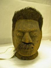 Carved head, male