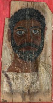 Painted portrait of a Roman noble