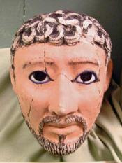 Roman Period Painted plaster mask (head shaped) , male