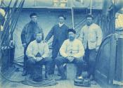 Five members of a whaling ship's crew