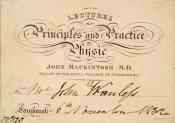 Invitation card from John Wanless papers