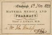 Business Card held within the John Wanless papers