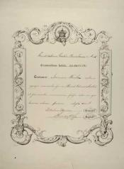 Certificate within the John Wanless papers