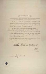 Homoeopathy certificate within the Wanless papers