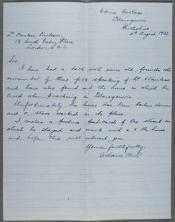 Letter from the John Wanless papers