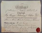 Certificate of Attendance within the John Wanless papers