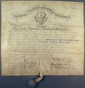 Certificate from the University of Glasgow within the John Wanless papers