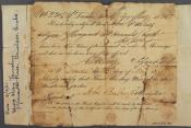 Marriage certificate within the John Wanless papers