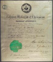 University certificate within the John Wanless papers
