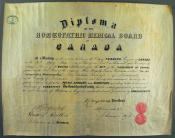 Diploma of the Homoeopathic Medical Board within the John Wanless papers