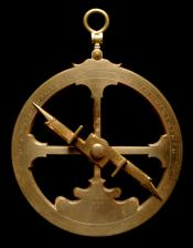 Mariner's Astrolabe, Dated 1555.. Astrolabe with base ballast