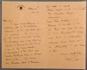 Copy of letter written by Captain Robert Falcon Scott