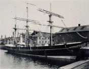 Whaler 'Scotia' in Dundee harbour.