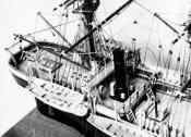 Photograph of model of whaling ship 'Eclipse'