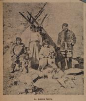 Newspaper photograph of an Inuit family