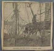 Newspaper clipping: 'Preparing for the Arctic at Dundee Docks.'