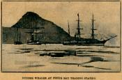Newspaper cutting showing three ships at Pond's Bay Trading Station