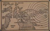 Newspaper cutting of a map of the North Pole
