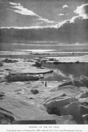 Photograph entitled 'Evening on the Ice Pack'; clipped from a magazine