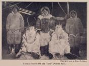 Photograph clipped from magazine; Inuit hunting party