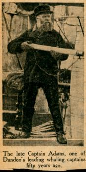 Photograph clipped from a newspaper: Captain Adams