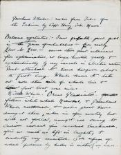 First page of hand written document about whaling