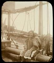 Inuit mother and child aboard Eclipse, 1900