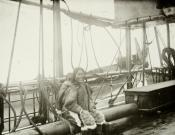 Inuit mother and child on board S.S. 'Eclipse', 1900