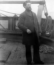 Captain William F. Milne on the deck of 'Eclipse'