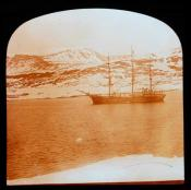 S.S. 'Eclipse' at anchor at Godhaven, Disko Island, Greenland.