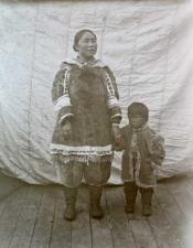 Inuit woman and child aboard 'Eclipse' 1900