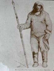 Drawing of Mek-to-Sha ( Great bear hunter). One of the Arctic highlanders