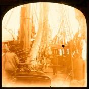 Whalebone being lowered to the deck of 'Eclipse'