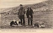 Sandon Perkins, Esquimaux and dogs hunting in Arctic America.