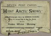 Packet for 'Midst Arctic Snows' postcards