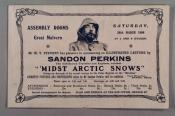"""Leaflet advertising """"Midst Arctic Snows"""" at the Assembly Rooms, Great Malvern, Saturday 28th March, 1908,  Bournemouth on 2nd April 1908 and Worcester on 9th April 1908."""