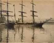 Dundee whalers in Dundee Harbour. Windward and Morning.