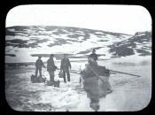 Whaling seamen collecting fresh water