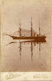 Whaling ship (probably 'Diana') in the Arctic