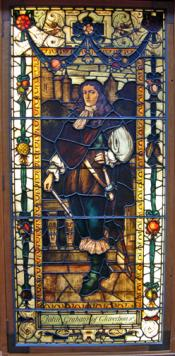 Stained glass window depicting John Graham of Claverhouse
