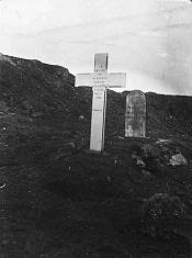 View of graves of Alex Reid and J Knight (Active) who died circa 1901