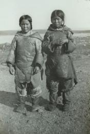 Inuit girls on foreshore