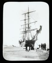 'Eclipse' moored to ice pack