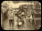 Party of Inuit on deck of a whaling ship