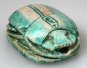 Blue glazed scarab, Thutmose III