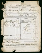 One of six Accounts of Wages for Charles Myers