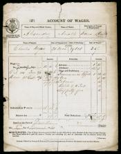 One of six Accounts of Wages for Mr Charles Myers