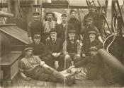 Captain Milne and members of crew