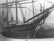 Whaling ship 'Active' in Dundee dock.