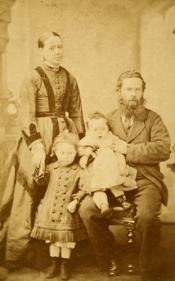Photograph of whaler Nicolas White and family